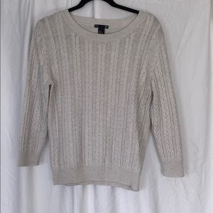 H and M Off White Basic Layering Sweater